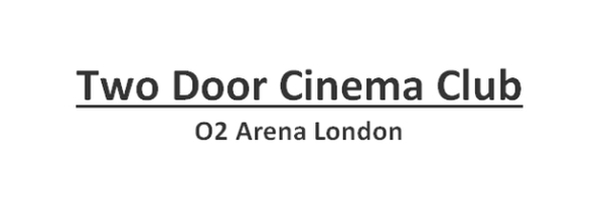 Two Door Cinema Club Concerts Tour Tickets