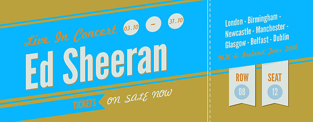 Ed Sheeran Tickets UK & Ireland Tour 2014